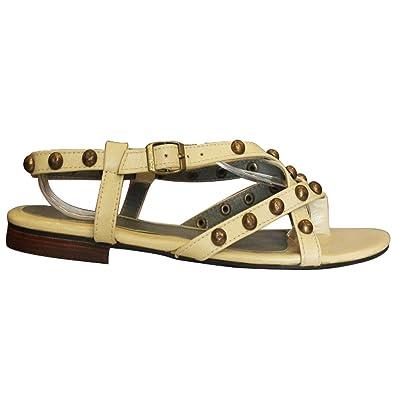 11sunshop - Zapatos de Vestir de Otra Piel Mujer, beige (crema), 34
