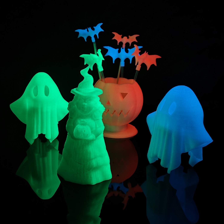 AMOAMOLEN PLA Filamento Impresora 3D, 1.75mm Glow in the Dark Azul ...