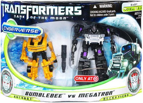 Transformers 3 Dark of the Moon Movie Exclusive Cyberverse Legion Class Action Figure 2Pack Bumblebee vs. Megatron