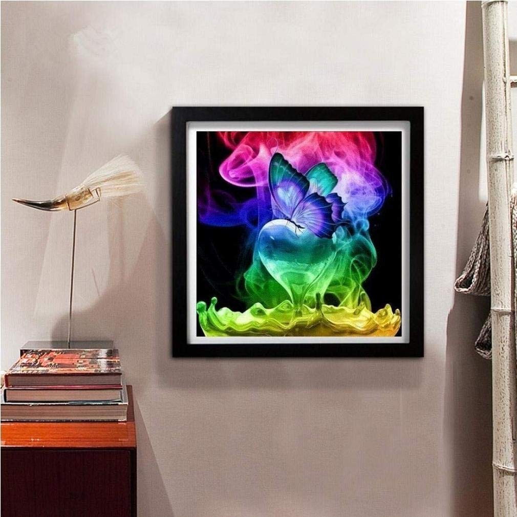 Toosvan Clearance 5D Diamond Painting Butterfly DIY Wall Art Decor Cross Stitch Kit Crystals Diamond Embroidery Painting Rhinestone Pictures Arts Home Decor (A) by Toosvan (Image #3)
