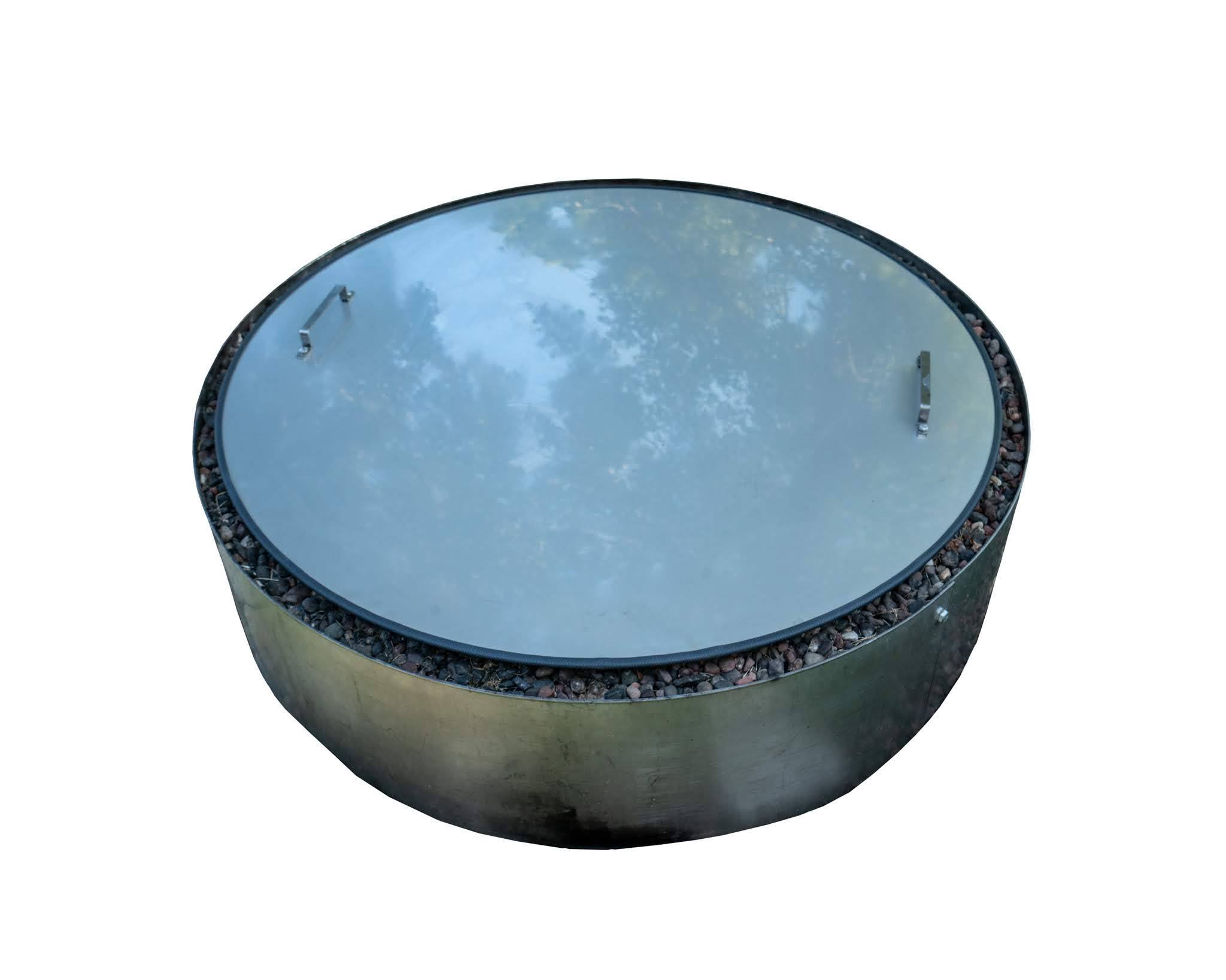 Stainless Steel Flat Fire Pit Cover Lid Top 36'' Diameter by Higley Fire Pit Cover