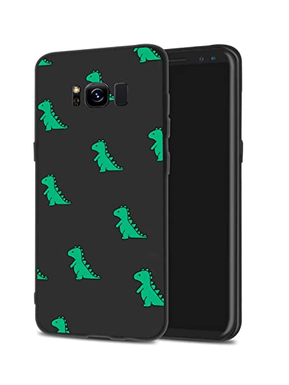 sale retailer 3914f daf0c JOYLAND Cute Green Dinosaur Phone Case Cover Slim fit Flexible Matte Phone  Cover Black Cell Phone Case Shell 1 Compatible for Samsung Galaxy S9
