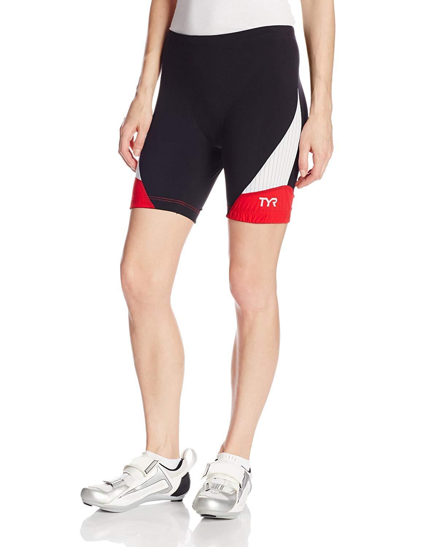 TALLA M. TYR Deporte Mujeres del Deporte de Carbono (Tri Pantalones Cortos de compresión