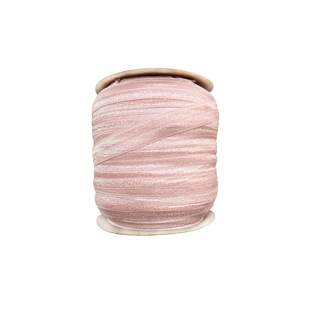 Eco-Friendly 15mm fold Over Elastic Tape for Garment Accessory 50Yards per roll (Black) Ltd