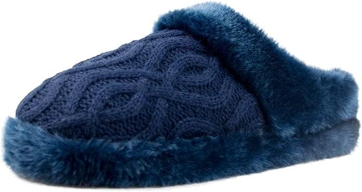 Women Winter Plush Bedroom Slippers Warm Indoor Comfortable Anti-Slip Floor House Slippers
