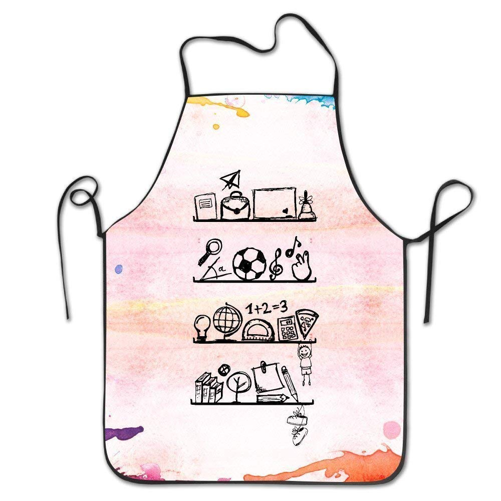Fs2A1X Best Gift Variety Cartoon Stainless Steel Vacuum Insulated Cup BBQ Kitchen Cooking Apron