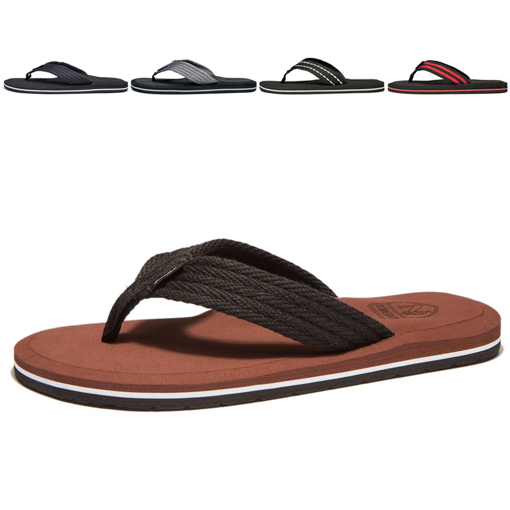 NewDenBer NDB Men's Classical Light Weight III Flip-Flop (11 D(M) US, Brown) by NewDenBer