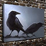 COLORSFORU Wall Art Painting Crow Prints On Canvas The Picture Landscape Pictures Oil For Home Modern Decoration Print Decor For Living Room