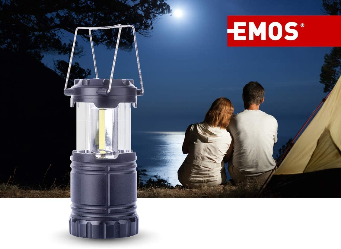 300 Lumen tragbare Campinglampe mit Haken und Magnet 38 Stunden Leuchtdauer EMOS LED Camping Laterne