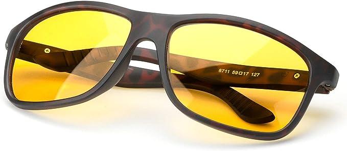 occhiali da sole sportivi per la protezione degli occhi dai raggi UV lenti polarizzate HD per visione notturna di sicurezza Ultra leggera. Occhiali da guida notturna antiriflesso e filtro abbagliante abbagliante