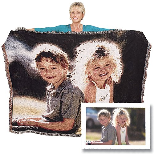 anket Full Size 60x80 custom made from your photos. This woven photo throw blanket has your photos weaved into the throw. No cracking or fading, machine washable and drier safe. (Woven Photo Throw)