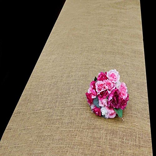 Efavormart 36 x 100ft All Natural Jute Burlap Aisle Runner - -