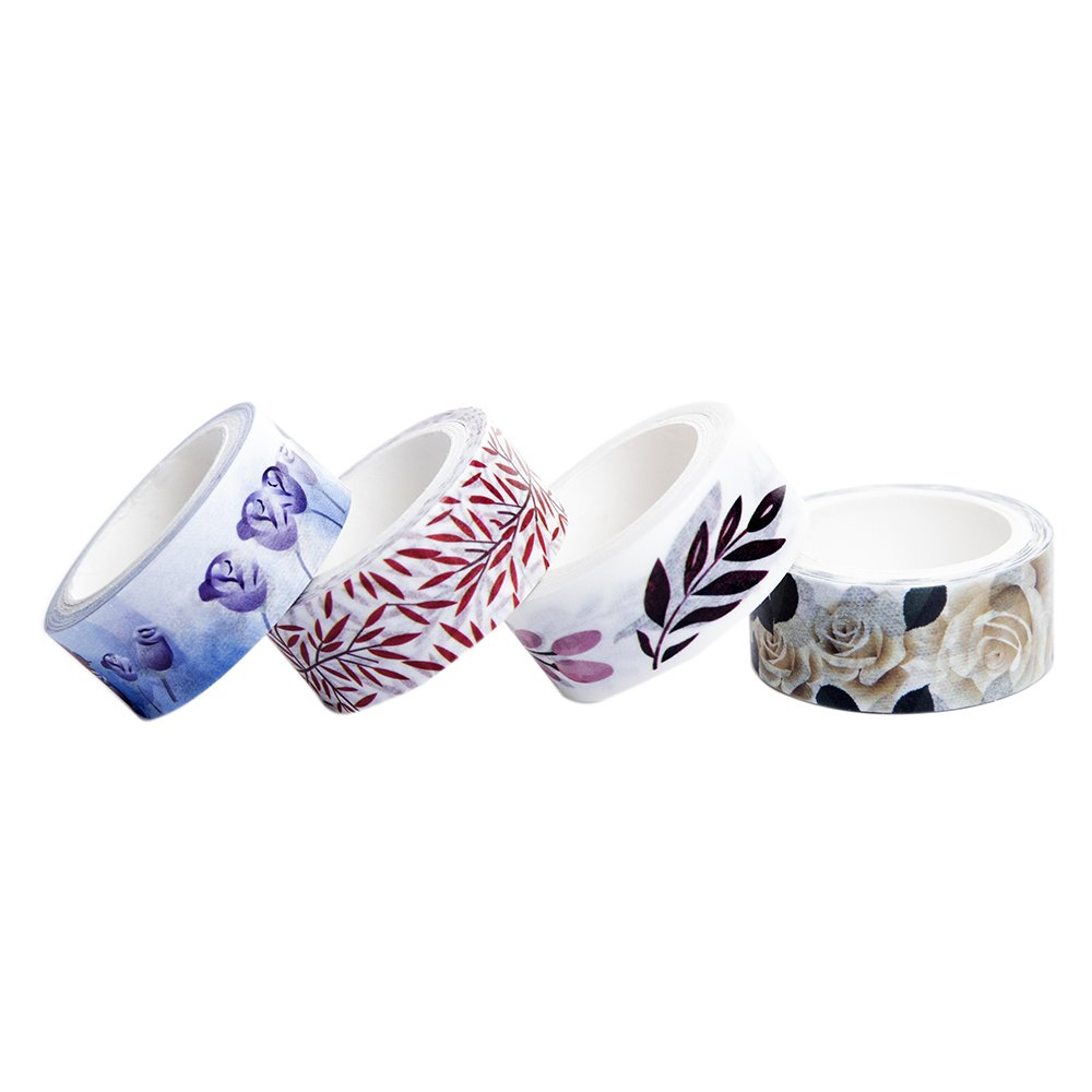 24 Rolls Washi Tape Set - The Theme of Nature, 24 Different Designs About Flower and Leaves Decorative Masking Tape Collection (15mm Wide) Leoter 4336847165