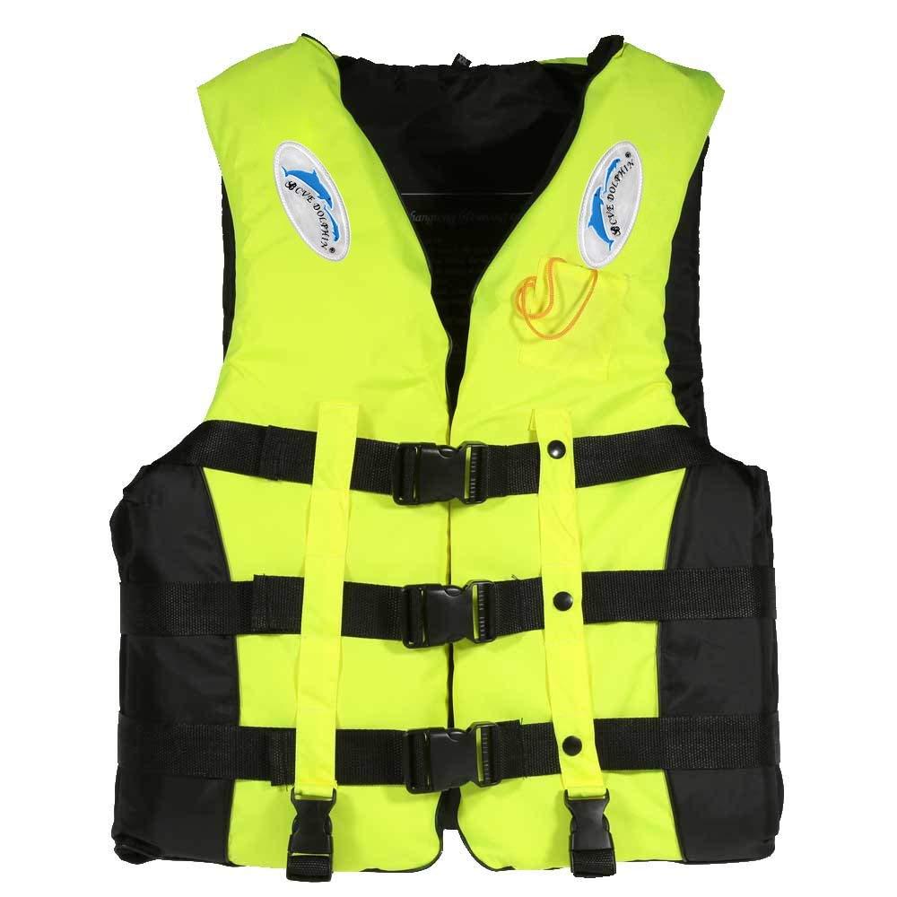 Lixada ライフジャケットベスト 大人 子供 レディース メンズ ウォータースポーツ スイミング ボート ドリフティング カヤックホイッスル X-Large グリーン B07G96W2XX