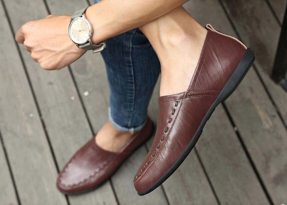Zapatos Zapatos Zapatos de guisantes de los hombres Zapatos Pies Soft Bottom Handmade Zapatos Verano Large Talla (Color : Marrón, tamaño : 41) d30b5f