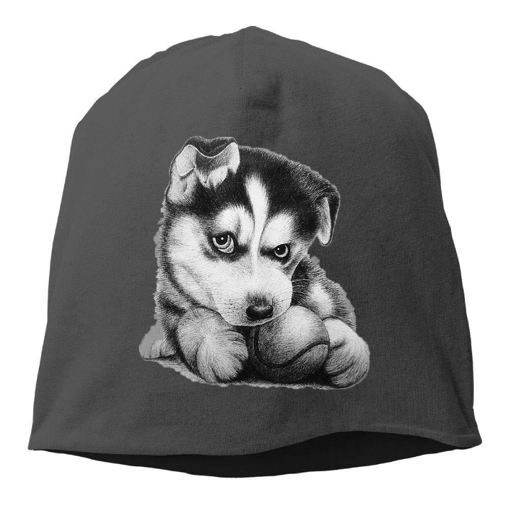 Top Level Beanie Hat for Men Women Knit Hat Siberian Husky Cotton Skull Cap  at Amazon Men s Clothing store  71a87cb3b5a