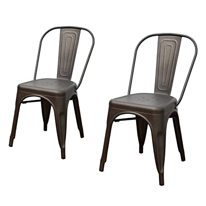 xavier pauchard french industrial dining room furniture. Joveco Heavy Sheetmetal Frame Tolix Style Stackable Industrial Bar Chairs With Back - Set Of 2 Xavier Pauchard French Dining Room Furniture D