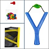 Kids Lawn Garden Summer Toy-Sling Shot Water Bomb Catapult With 20 Balloons For Great Outdoor Fun (Blue)