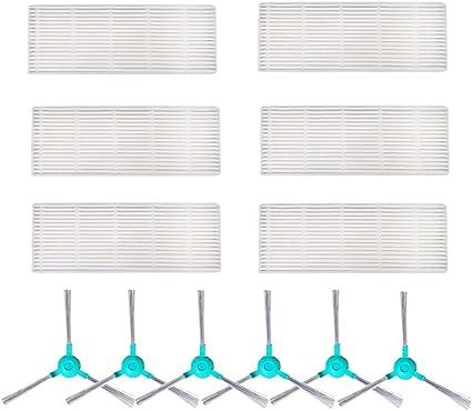 iAmoy Kit de Filtro y Cepillo Lateral de Repuesto Compatible Conga ...