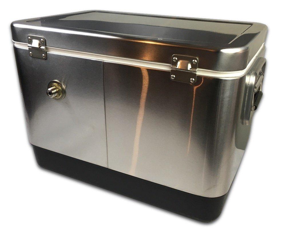 Coldbreak Brewing Equipment CBJB54SPT1 Jockey Box, 1 Tap, Stainless Pass Through, 54 quart Cooler, 50' Coil, 0.25'' ID, 0.3125'' OD, Stainless Steel, Silver by Coldbreak Brewing Equipment (Image #2)