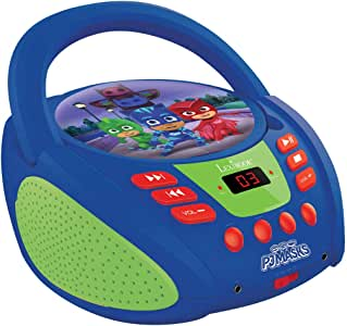 Lexibook PJMasks CD Player, aux-in Jack, AC or Battery-Operated, Blue/Green, RCD108PJM, Norme
