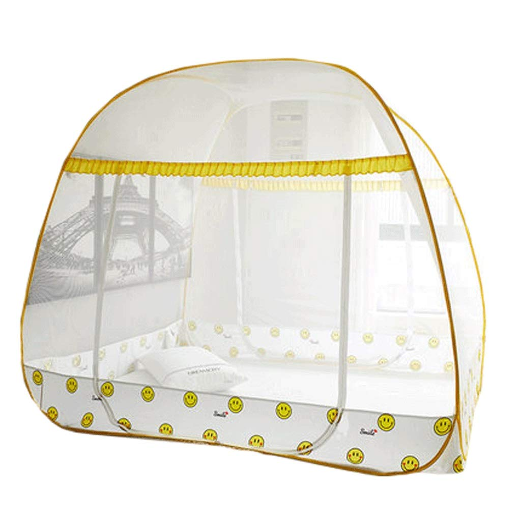 Mosquito Net Dust top Zipper Drop Children 1.5/1.8m Bed 2 m Household encryption Thickening Princess Wind (Color : B, Size : 1.8m Bed)