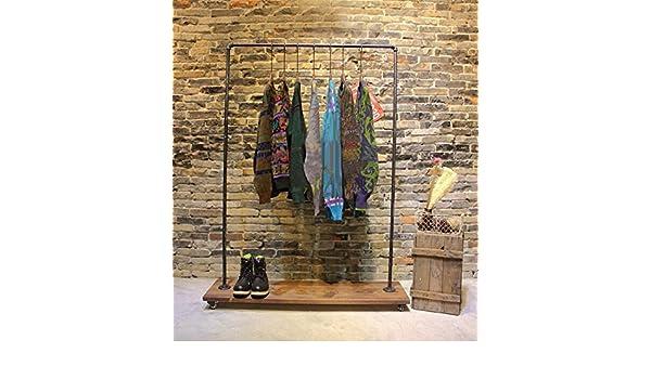 WGX - Perchero de tuberías para ropa con ruedas: Amazon.es ...