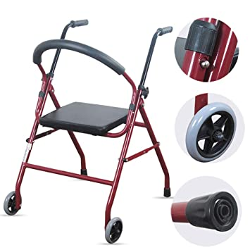 WDXIN Andador para Ancianos Plegable Regulable En Altura Viejo ...