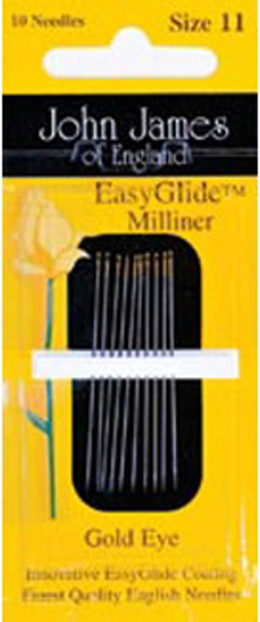 Size 10 10-Pack Chase Colonial Needle Goldn Glide Applique Hand Needles