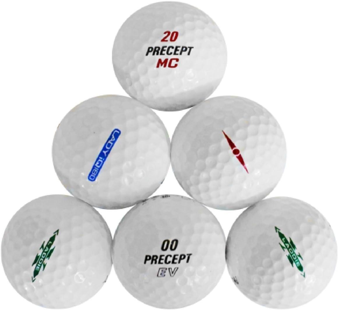 Precept 10 Dozen Assorted Near Mint AAAA Recycled Used Golf Balls