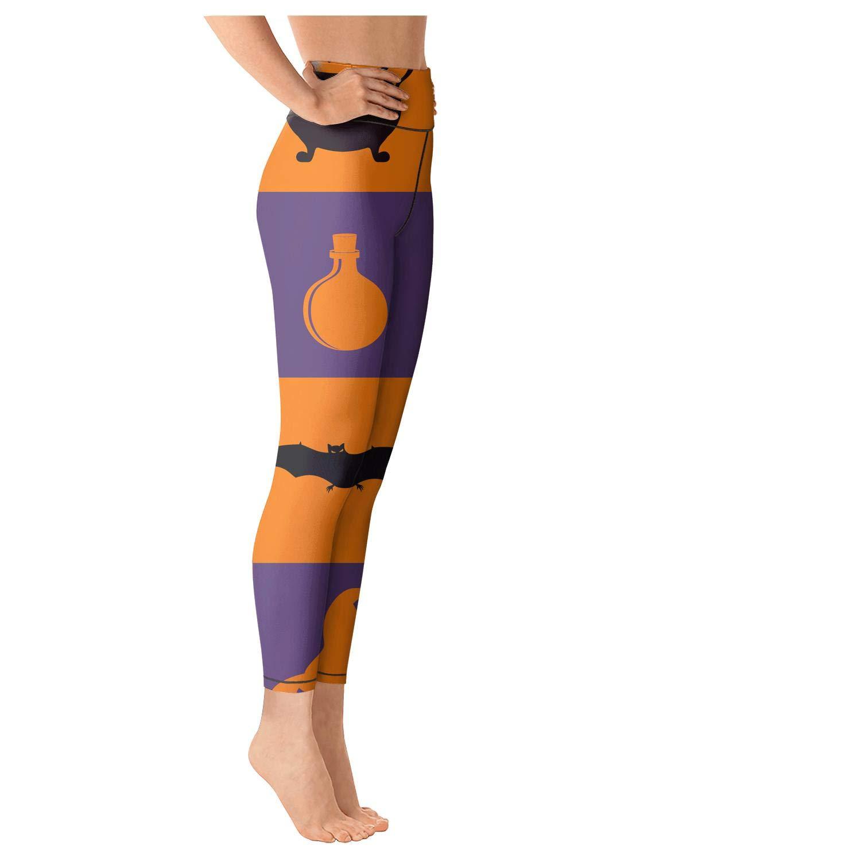 Womens Yoga Pants Elastic Leggins Halloween Traditional Colors Checkerboard Training Capris
