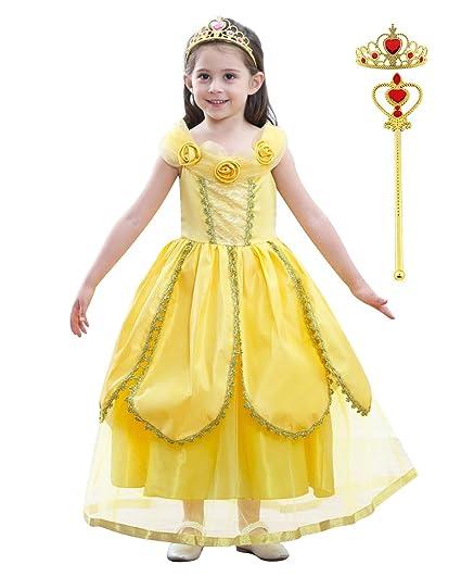 Dolamen Niñas Vestido de Princesa Traje del Vestido Princesa ...