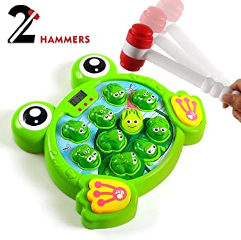 Yeebay Interactive Whack A Frog Game With 2 Hammers