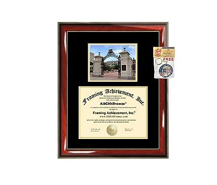 d004601e49d8 George Washington University Diploma Frame - GWU Graduation Degree Frame -  Matted College Campus Photo Graduation