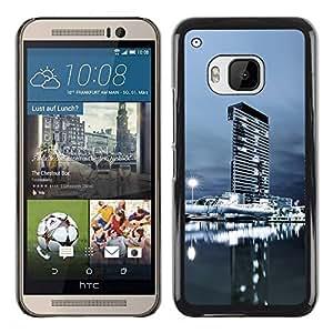 PC/Aluminum Funda Carcasa protectora para HTC One M9 Urban Cityscape Night / JUSTGO PHONE PROTECTOR