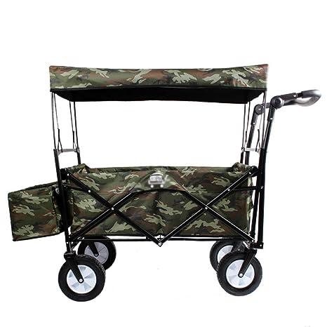 Camiones de Mano Utilidad Pull Wagon Plegable Carro de carros Plegables con Capota extraíble, Gran