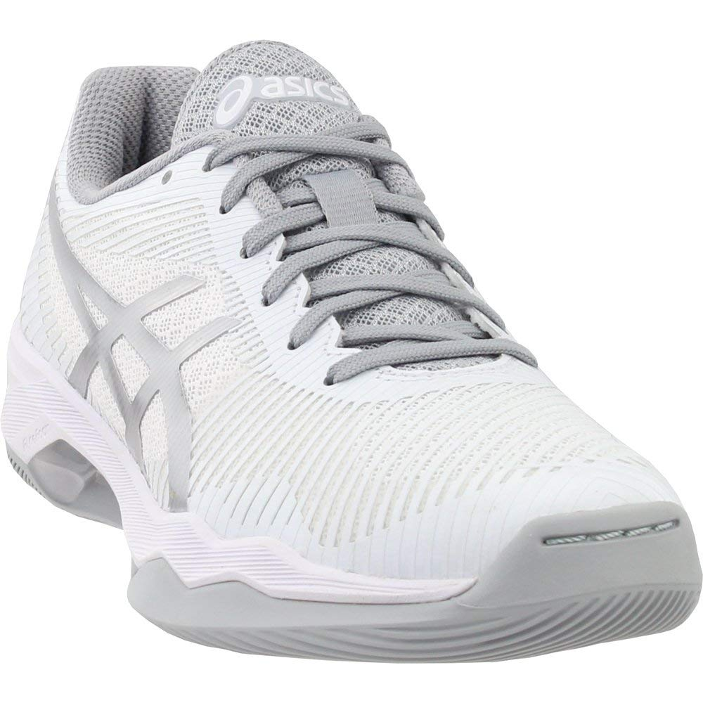 ASICS Women's Volley Elite FF MT Volleyball Shoes, White/Silver, Size 6