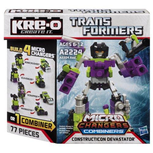 KRE-O Transformers Micro-Changers Combiners Construction Devastator Set - Kreo Transformers Combiners
