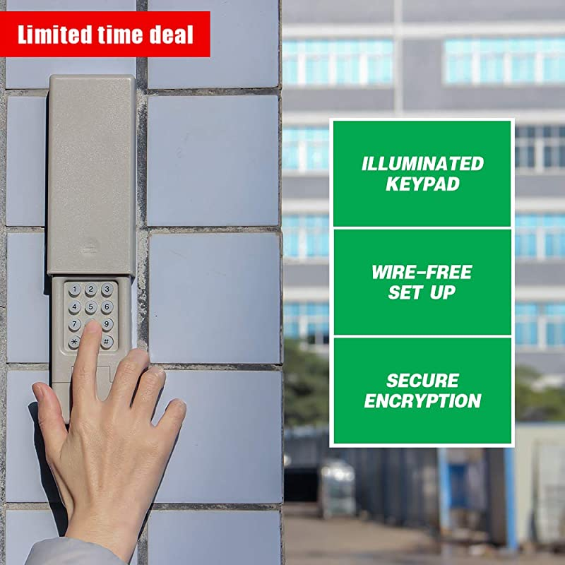 Universal Garage Door Wireless Keypad 2.0