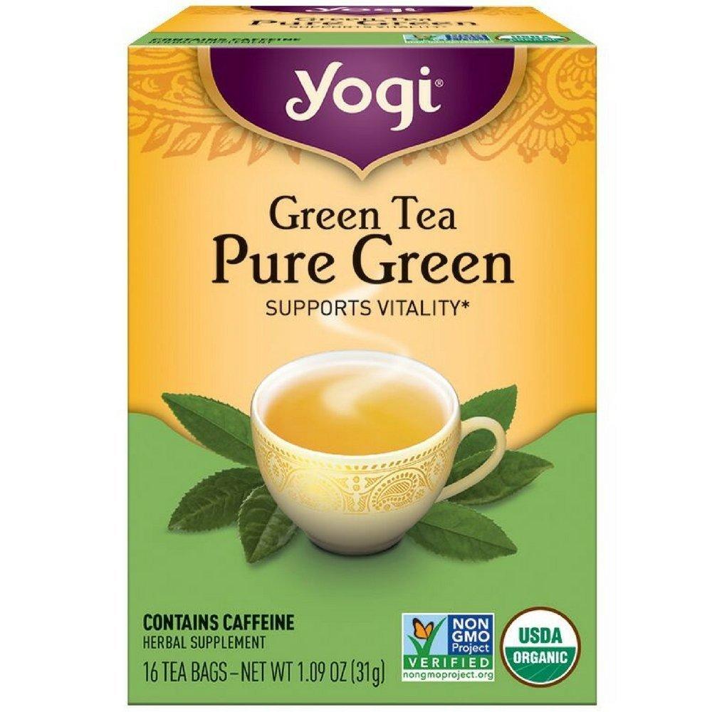 Yogi Tea Pure Green 16 ea ( pack of 3) by Yogi