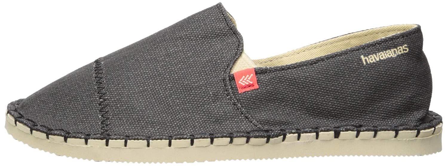 11-12 M US Little Kid Havaianas Kids Origine Yacht Cal Espadrille,Black,27//28 BR