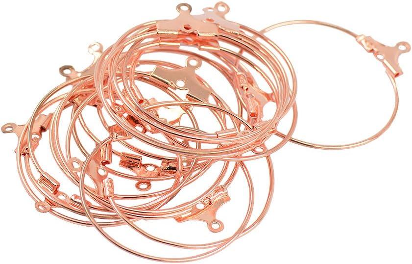 freneci 40Pcs Ensemble Perles Hoop Boucle doreille Crochets Connecteurs DIY R/ésultats Platine