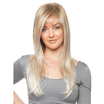 SHKY Pelucas largas rectas largas del pelo del gris de plata de la manera con la