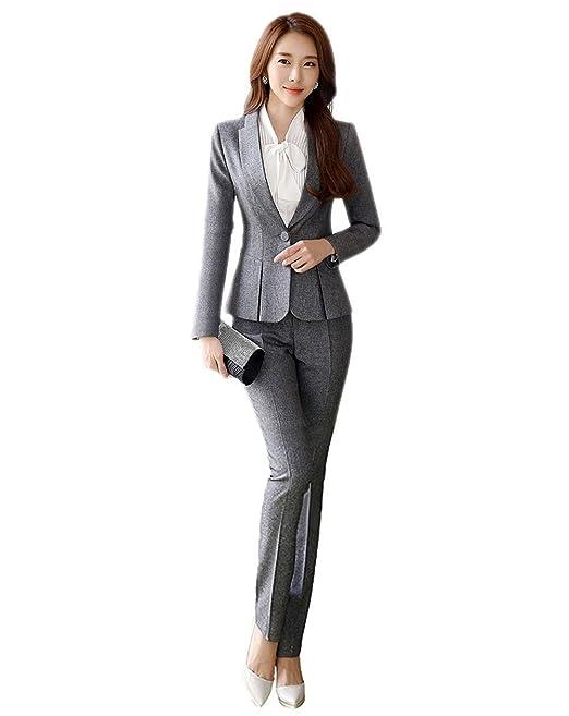 reputable site a220a ec355 SK Studio Donna Blazer Ufficio Tailleur Pantalone Aderente ...