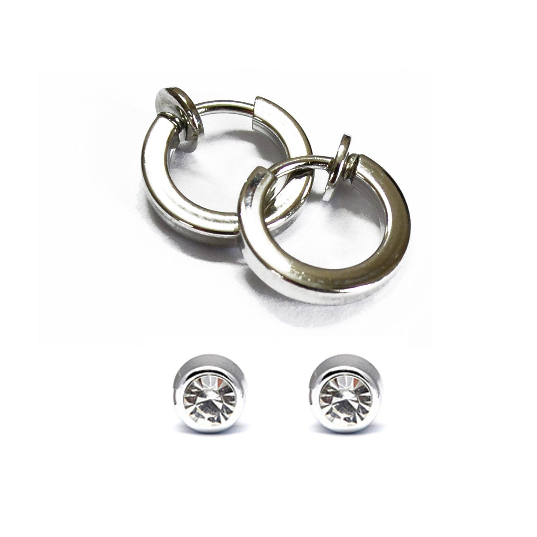 Buy Via Mazzini Clip On 2 Earrings Combo For Non-Pierced Ears for ...