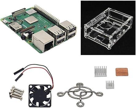 4 en 1 Raspberry Pi 3 Modelo B + (Plus) + Ventilador de ...