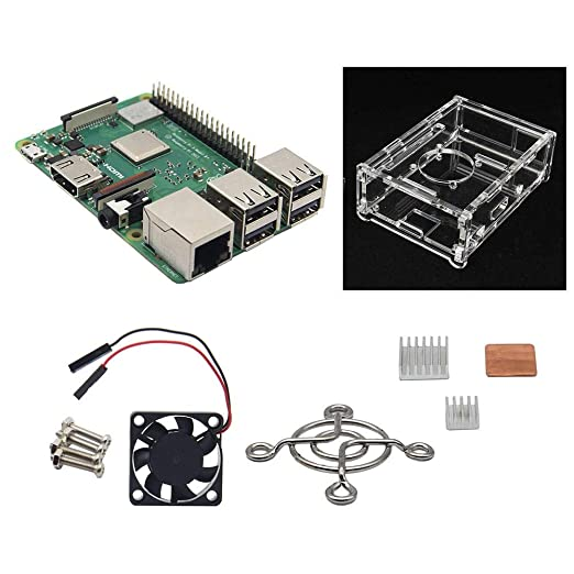 QCY AT Parte Compatibles 4 en 1 Raspberry Pi 3 Modelo B + (Plus) + ...