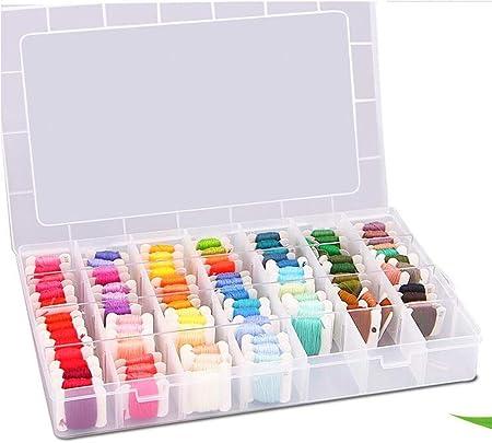 WJS 100 Conjunto de Caja de Color Hilo de Bordar Hilo de Bordar ...