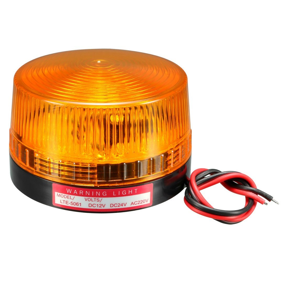 uxcell LED Warning Light Bulb Rotating Industrial Signal Tower Lamp DC 12V Yellow LTE-5061 a18042400ux0164
