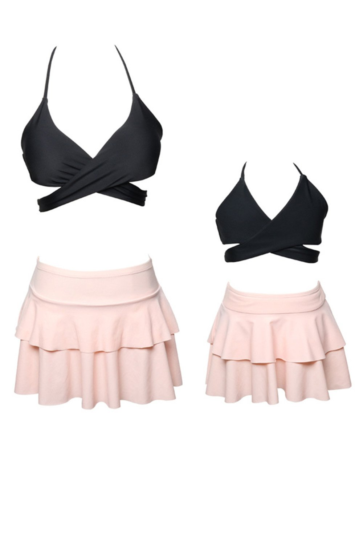 WIWIQS Summer Cute Baby Girls Bikini Set Family Matching Mommy and Me Swimsuit C-QINZIZHUANGYY